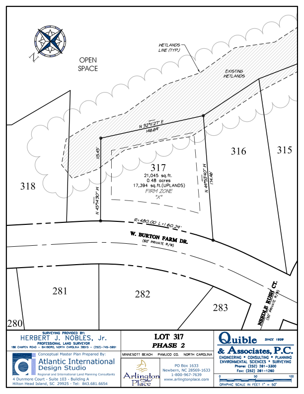 Arlington Place Homesite 317 property plat map image.