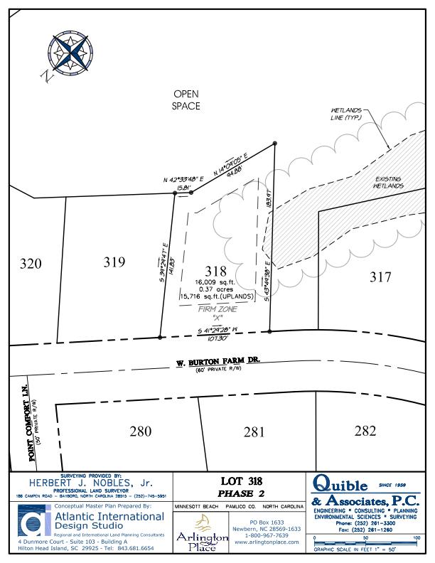 Arlington Place Homesite 318 property plat map image.
