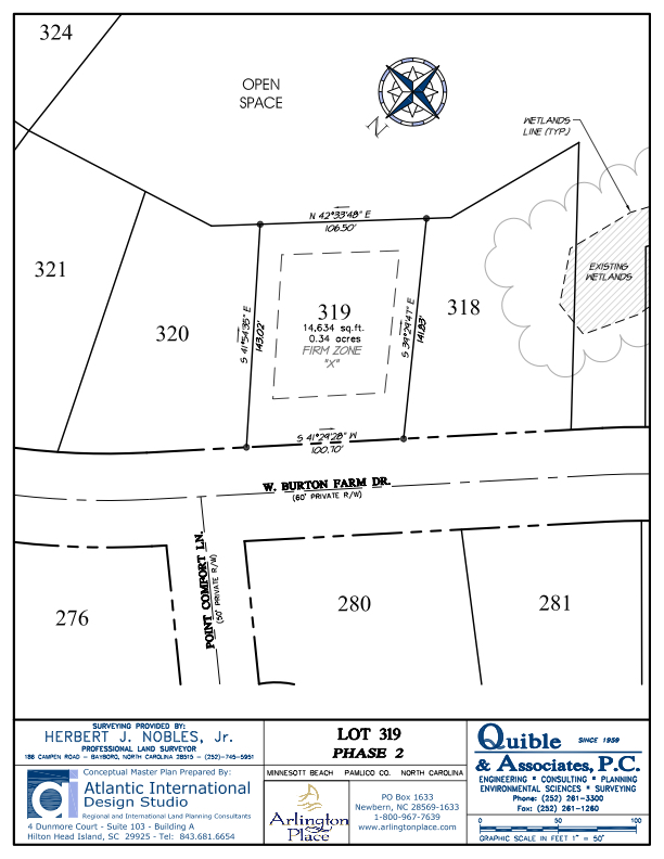 Arlington Place Homesite 319 property plat map image.