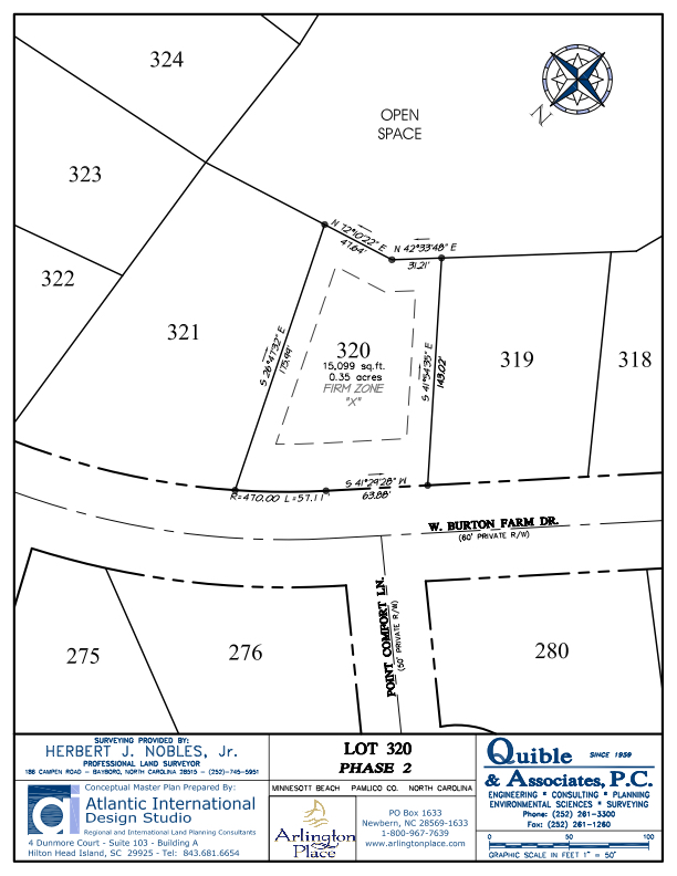 Arlington Place Homesite 320 property plat map image.