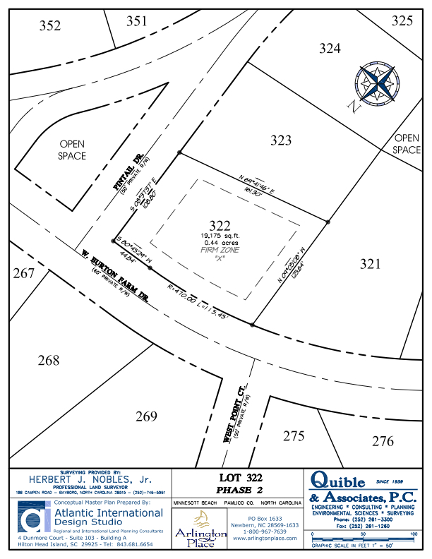Arlington Place Homesite 322 property plat map image.