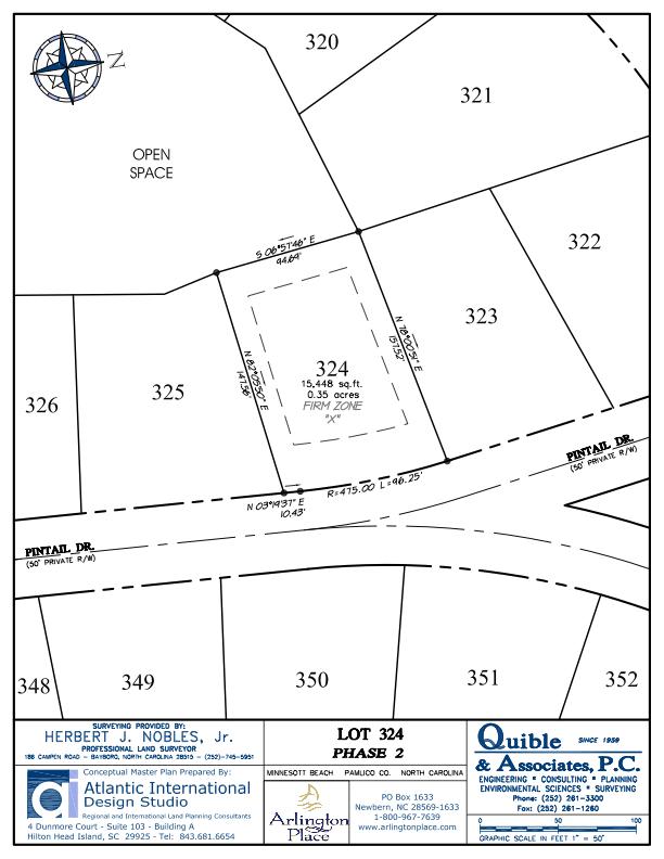 Arlington Place Homesite 324 property plat map image.