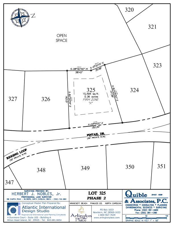 Arlington Place Homesite 325 property plat map image.