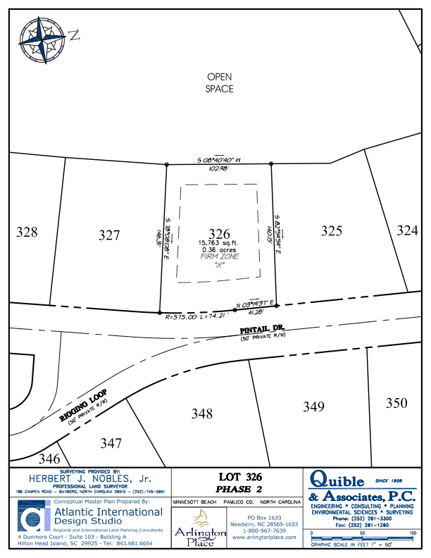 Arlington Place Homesite 326 property plat map image.