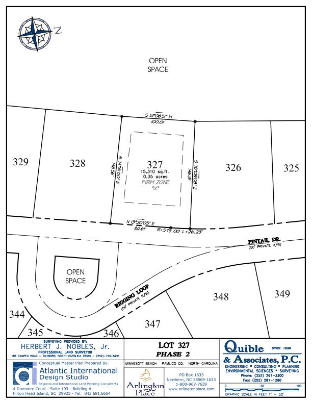 Arlington Place Homesite 327 property plat map image.