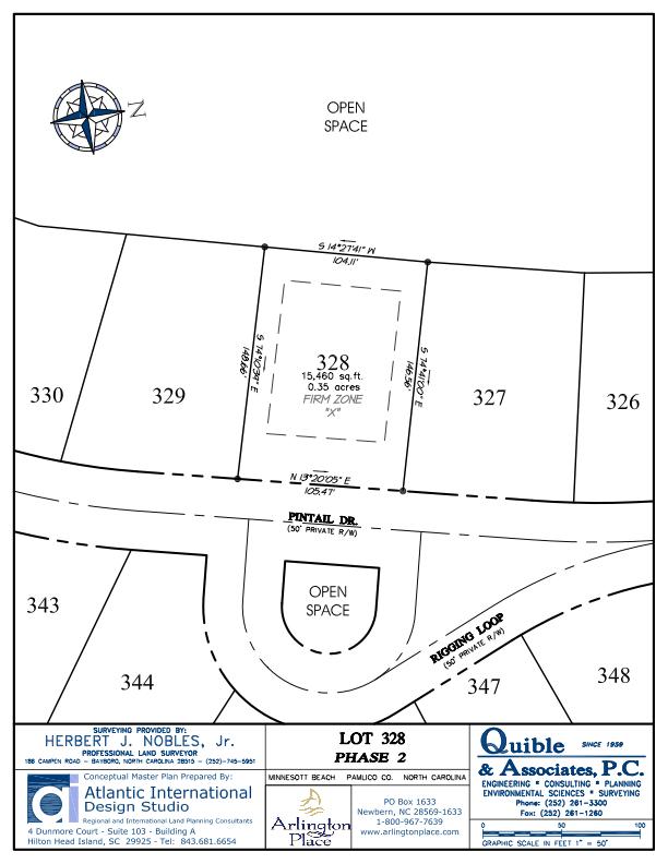 Arlington Place Homesite 328 property plat map image.