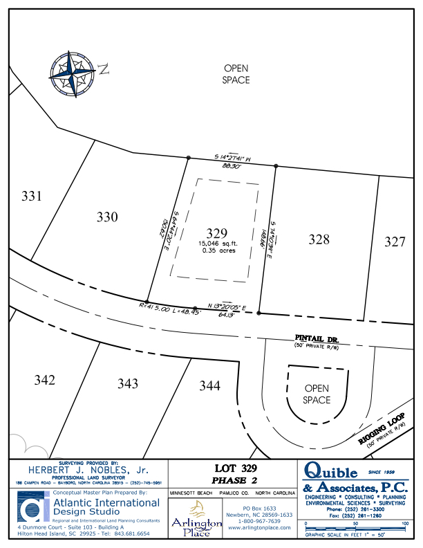 Arlington Place Homesite 329 property plat map image.