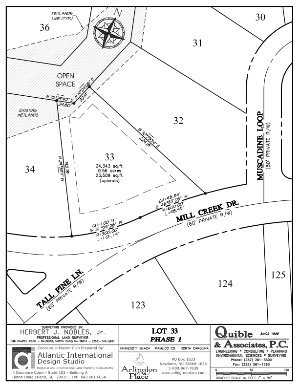 Arlington Place Homesite 33 property plat map image.