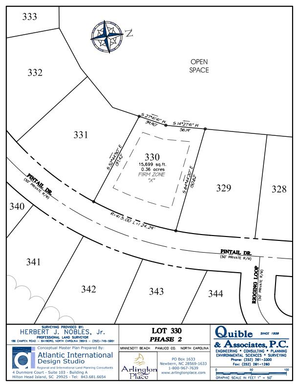 Arlington Place Homesite 330 property plat map image.