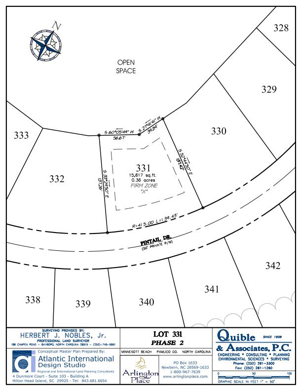 Arlington Place Homesite 331 property plat map image.