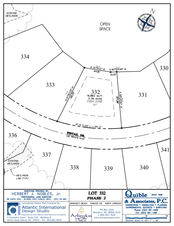 Arlington Place Homesite 332 property plat map image.