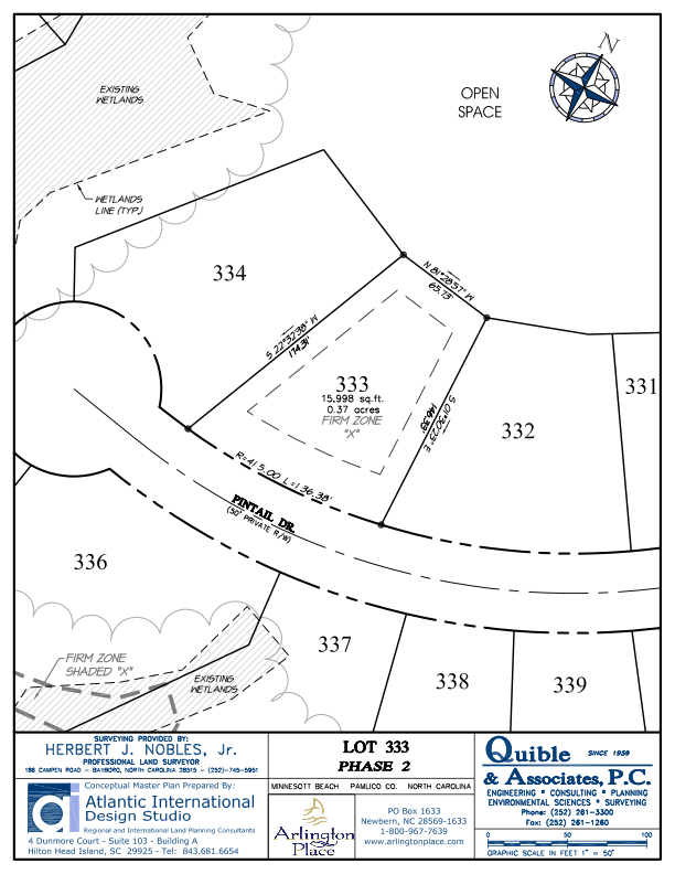 Arlington Place Homesite 333 property plat map image.