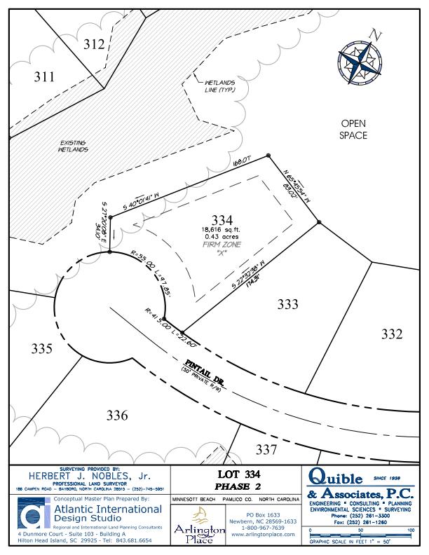 Arlington Place Homesite 334 property plat map image.