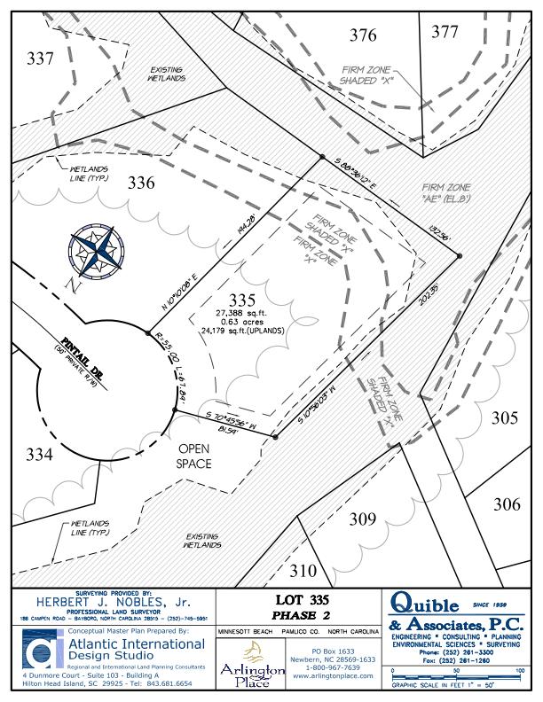 Arlington Place Homesite 335 property plat map image.