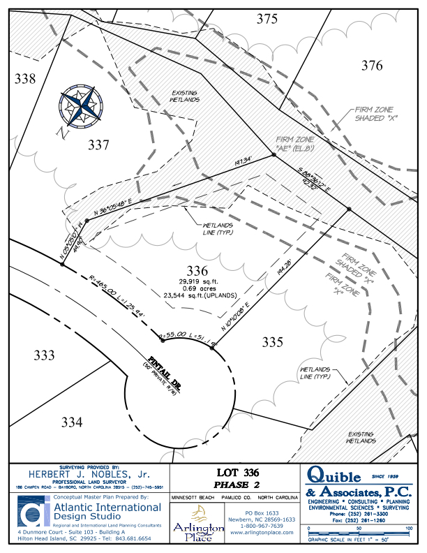 Arlington Place Homesite 336 property plat map image.