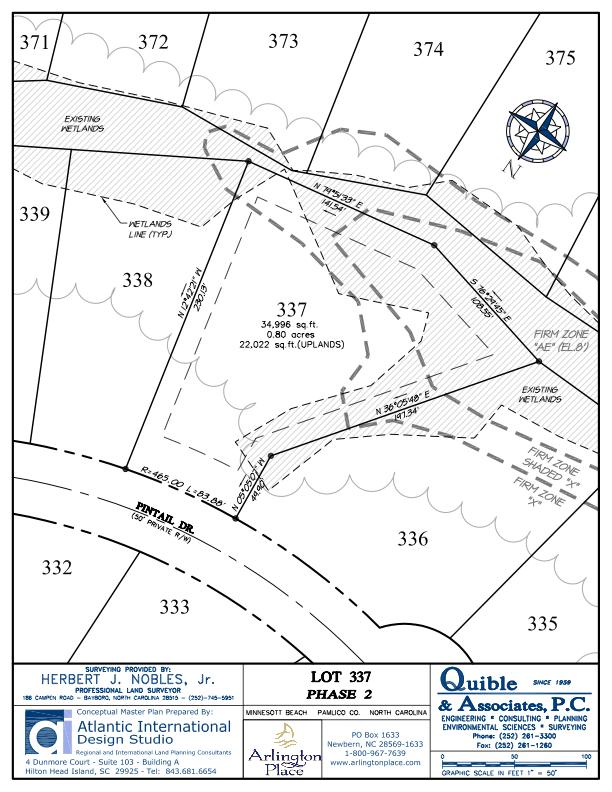 Arlington Place Homesite 337 property plat map image.