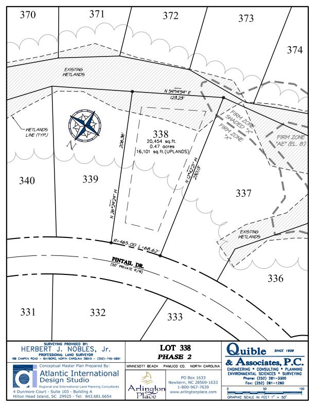 Arlington Place Homesite 338 property plat map image.