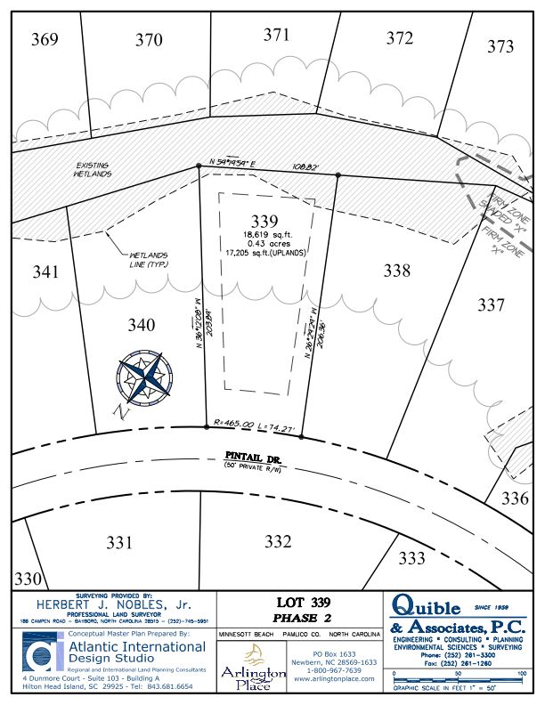 Arlington Place Homesite 339 property plat map image.