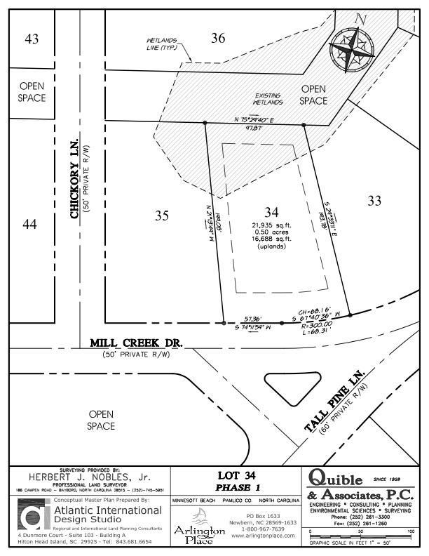 Arlington Place Homesite 34 property plat map image.
