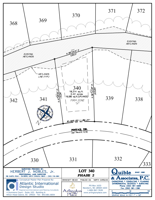 Arlington Place Homesite 340 property plat map image.