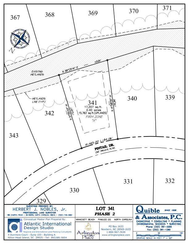Arlington Place Homesite 341 property plat map image.