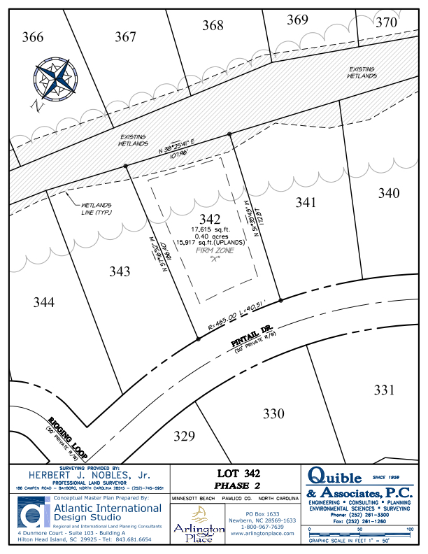 Arlington Place Homesite 342 property plat map image.