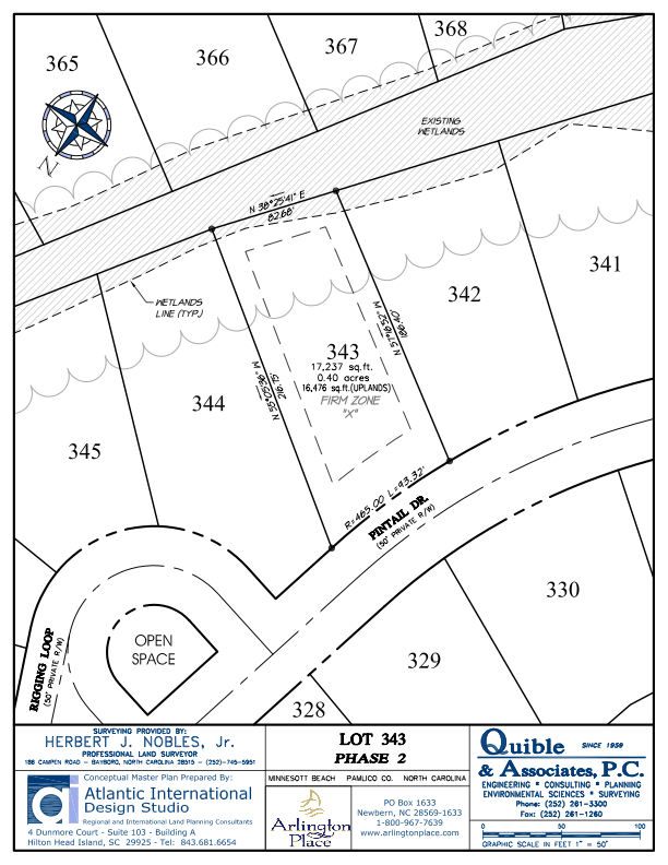 Arlington Place Homesite 343 property plat map image.