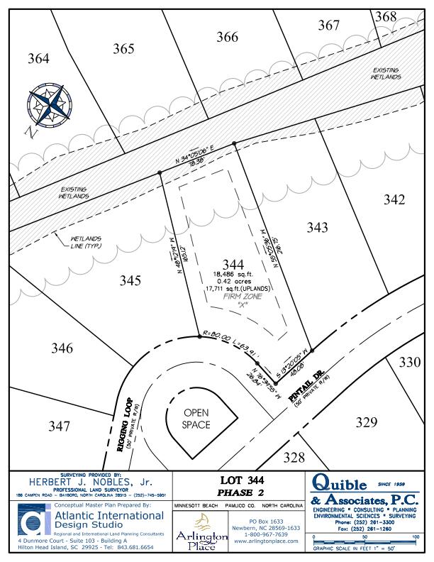 Arlington Place Homesite 344 property plat map image.