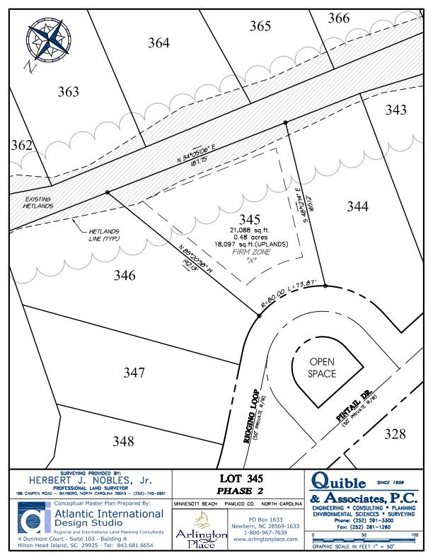 Arlington Place Homesite 345 property plat map image.