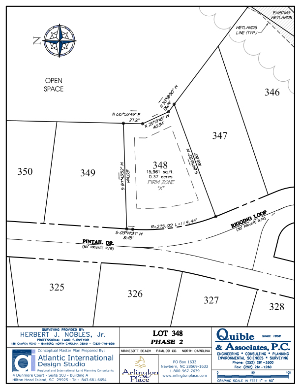 Arlington Place Homesite 348 property plat map image.
