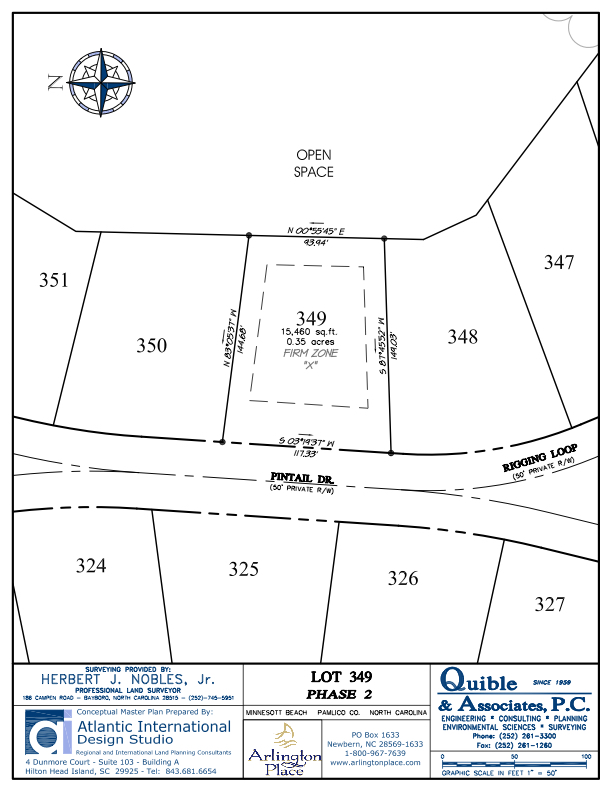 Arlington Place Homesite 349 property plat map image.