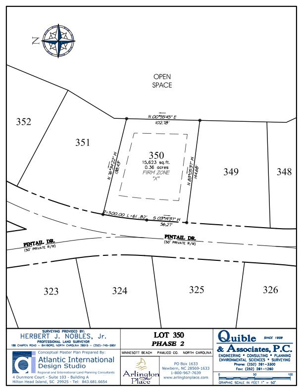 Arlington Place Homesite 350 property plat map image.
