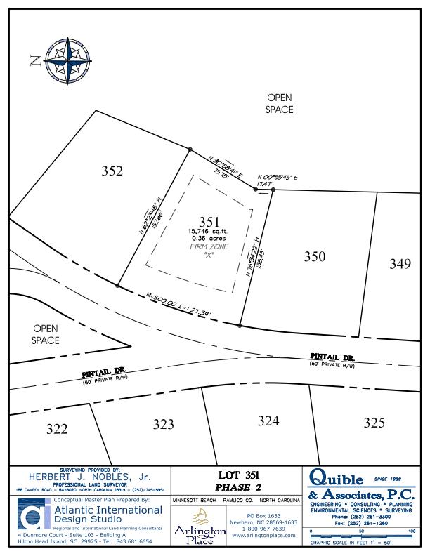 Arlington Place Homesite 351 property plat map image.
