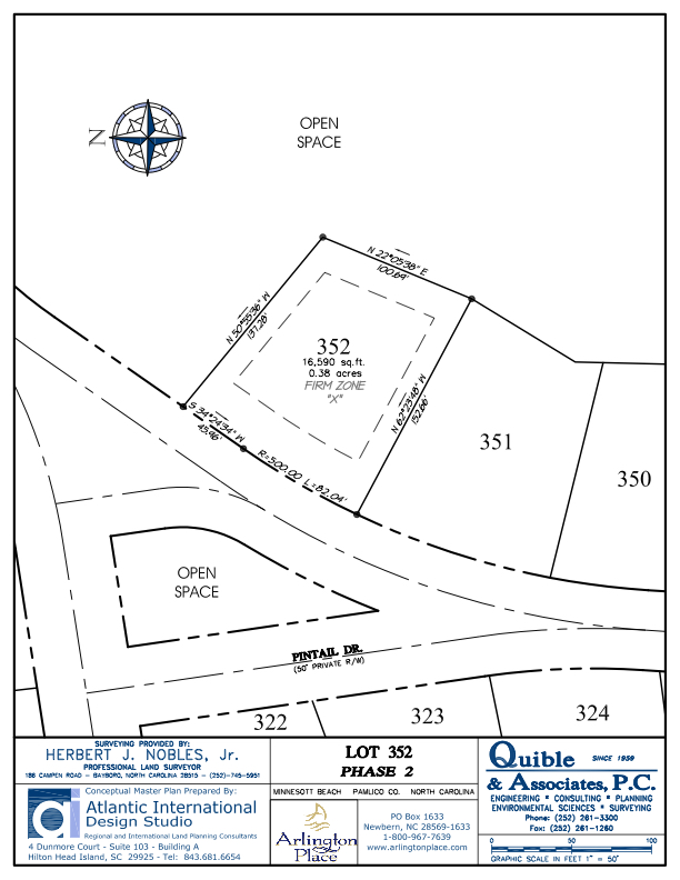 Arlington Place Homesite 352 property plat map image.