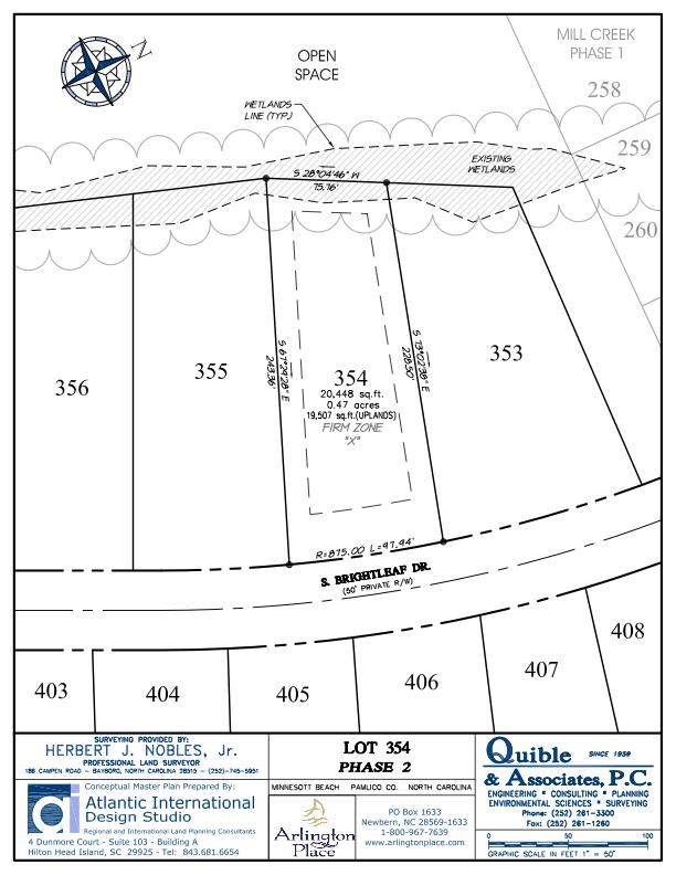 Arlington Place Homesite 354 property plat map image.