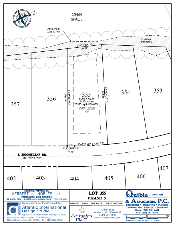 Arlington Place Homesite 355 property plat map image.