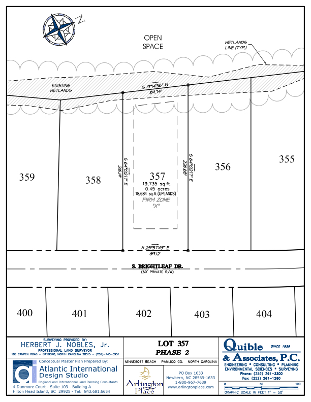 Arlington Place Homesite 357 property plat map image.