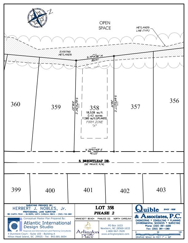 Arlington Place Homesite 358 property plat map image.
