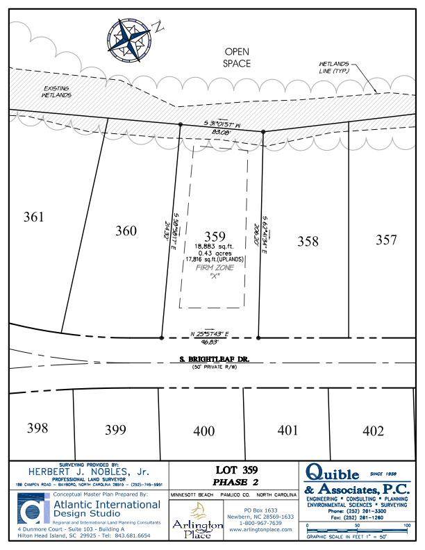 Arlington Place Homesite 359 property plat map image.