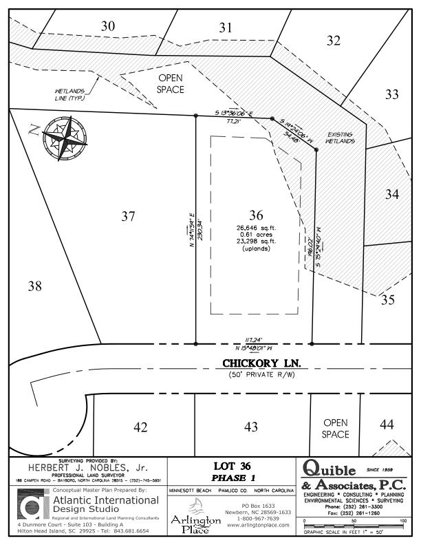 Arlington Place Homesite 36 property plat map image.