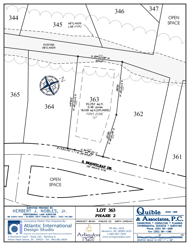 Arlington Place Homesite 363 property plat map image.