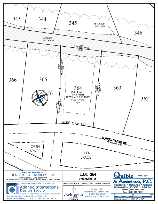 Arlington Place Homesite 364 property plat map image.