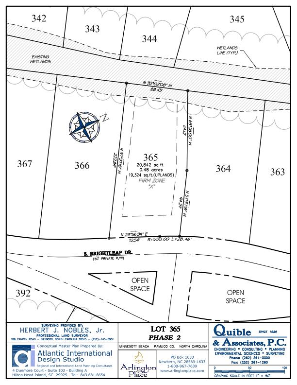 Arlington Place Homesite 365 property plat map image.