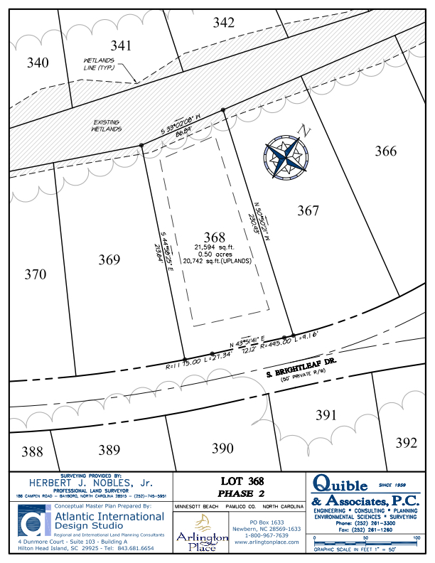 Arlington Place Homesite 368 property plat map image.