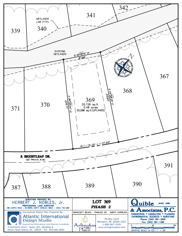 Arlington Place Homesite 369 property plat map image.