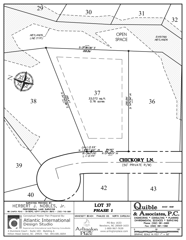 Arlington Place Homesite 37 property plat map image.