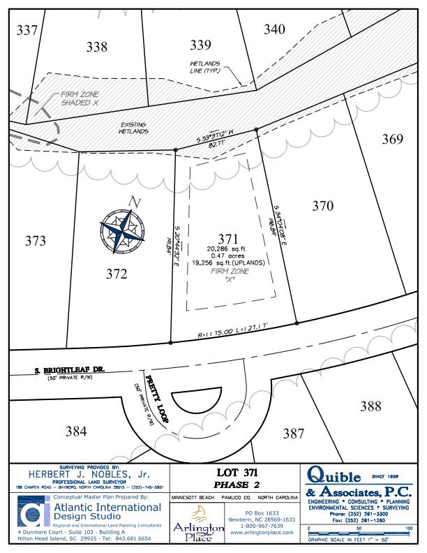 Arlington Place Homesite 371 property plat map image.