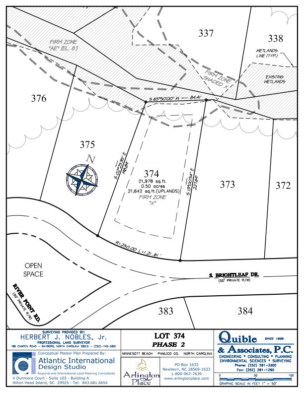 Arlington Place Homesite 374 property plat map image.