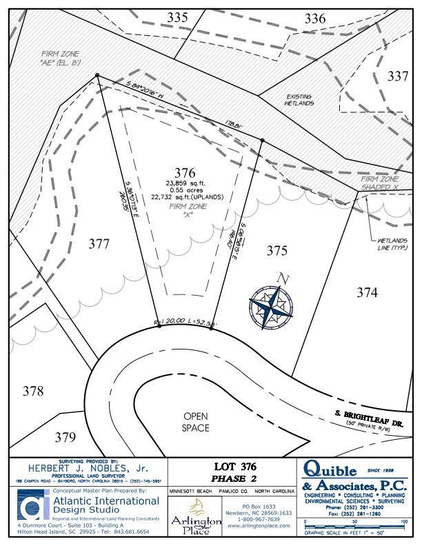Arlington Place Homesite 376 property plat map image.
