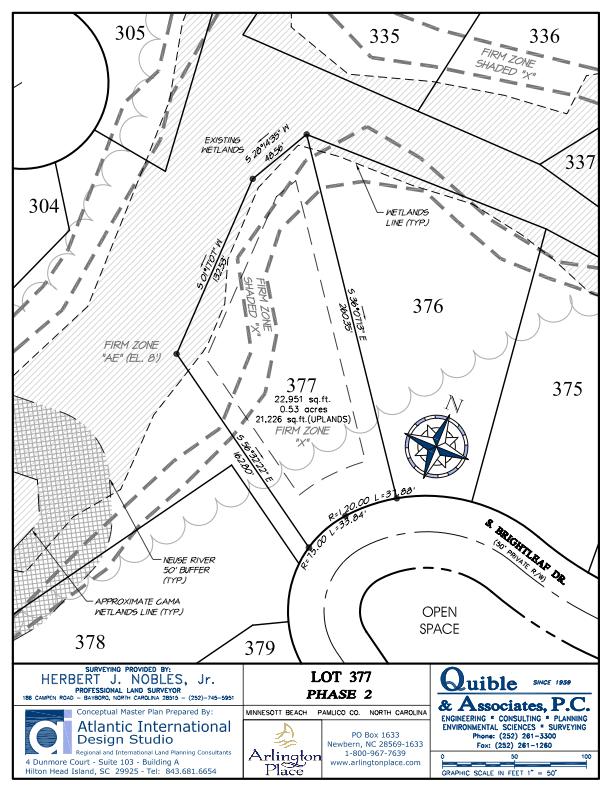 Arlington Place Homesite 377 property plat map image.